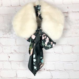 NWT Anthropologie Two -in-One Ascot Fur Scarf
